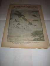 DOMENICA CORRIERE AVIAZIONE 1923 MANIFESTAZIONE AEREA MARCIA SU ROMA FASCISMO