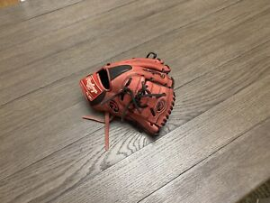 """Rawlings Heart Of The Hide 12"""" Two Piece Web Baseball Glove Red"""