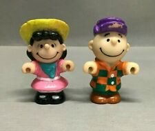 Vintage Fisher Price Little People Peanuts Charlie Brown & Lucy Lot of 2