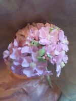 Vintage small Lavender Floral Dolls Veil Hats Millinery Flowers