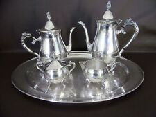 New listing Vintage Leonard Silverplate Coffee/Tea Set With Serving Tray