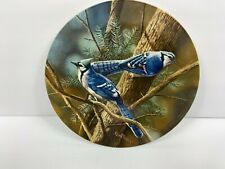 Knowles The Blue Jay Collectible Decorative Plate Birds of Your Garden Coa