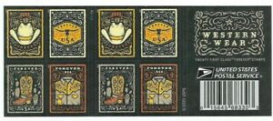 #5615-5618a Western Wear (forever) 2021 Issue-MNH Booklet Pane of 20 (4 Diff)