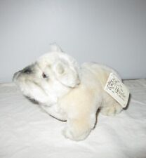Nwt Russ Yomiko Bulldog w/ tag Stuffed Dog 8� Plush Vintage 1980's