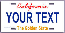 CALIFORNIA STATE STYLE  LICENSE PLATE, PERSONALIZED,  Made in USA