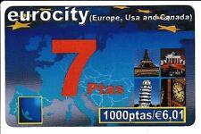 EUROPE  TELECARTE / PHONECARD .. ESPAGNE 1000P EU.TOUR EIFFEL PISE LONDON 12/02
