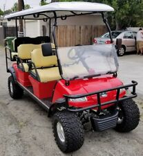 Red 2020 48V Evolution Forester 6 Golf Cart 6 Passenger Seat Street Legal LSV