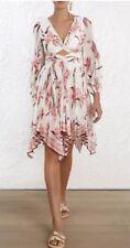 Zimmermann Corsage Pleat Mini Dress Size 0 Rrp$1100