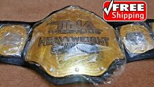 TNA HEAVYWEIGHT Championship Belt Title Gold Plated 4mm Adult Size