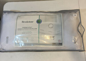 Brookstone Thermo-Star Down Alternative Pillow -Side Sleeper- KING- New