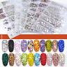 1728Pcs Nail Rhinestones Glitter Crystal Gems Flat Back 3D Nail Art Decoration