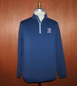 2019 US Open Pebble Beach Peter Millar sz Large L 1/4 Zip Pullover Shirt/Sweater