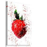 PAINTING DRAWING STRAWBERRIES FOOD ART PRINT Canvas Wall Picture  R37 MATAGA