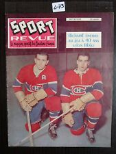 HOCKEY SPORT REVUE 1959 COVER MAURICE RICHARD AND  HENRI RICHARD  L73