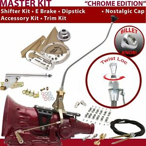 C4 Shifter Kit 23 Swan E Brake Cable Clamp Clevis Trim Kit Dipstick For F7E6C