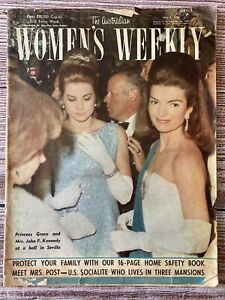 Vintage The Australian Women's Weekly May 4 1966 ~ Grace Kelly Jackie O Cover