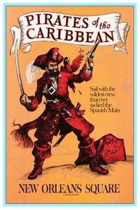 DISNEYLAND PIRATES OF THE CARIBBEAN 2 - COLLECTOR POSTER  (B2G1FREE!!)