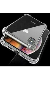 Shockproof Silicone Protective Clear Case Cover for Apple iPhone X
