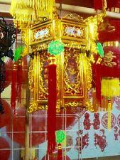 Chinese XXL 36cm Gold Red Dragon Palazzo Lanterna Illuminazione giapponese Party Deco B3