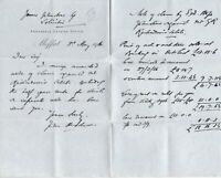 James Johnstone Solicitor Moffat 1916 Claim Against Estate Letter Ref 41620