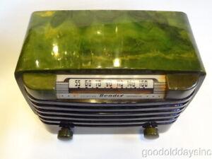 Vintage Bendix 526C Green Swirl Catalin Tube Radio