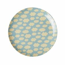 RICE Melamine side or lunch plate in blue cloud print