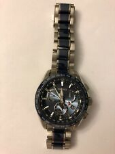 Seiko Astron 8X53-0AB0-2 Dual Time Solar Authentic Mens Watch Works
