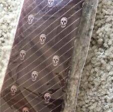 Alexander McQueen Burgundy Skulls Tie BNWT!!