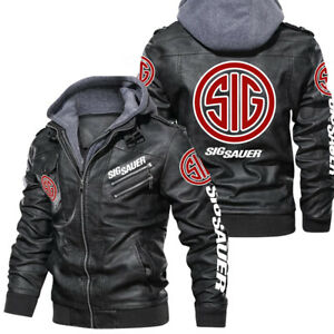 Sig Sauer - Leather jacket, best gift, new jacket-HALLOWEEN- SO COOL