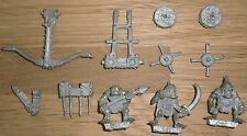 Warhammer Fantasy Citadel Orc Spear Chukka And 3 Crew - OOP Metal