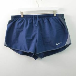 Nike Running Shorts Navy Blue With Liner Brief Womens Plus 1X