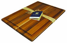 Madeira 'Provo' Large Edge Grain Teak Kitchen Cutting / Carving Board