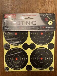 """Birchwood Casey Shoot•N•C 3"""" Bull's-eye 48 reactive targets 12 Sheet Pack- 34375"""