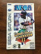 World Series Baseball II 2 Sega Saturn Game Instruction Manual Only