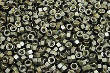 (450) 3/8-16 Plain Grade 5 Hex Finish Nuts - Unplated - Coarse