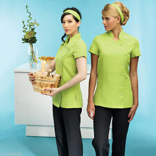 Polyester Business Patternless Tops & Shirts for Women