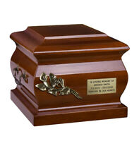 Wooden Cremation Urn for Adult Unique Memorial Italian Funeral Urn for Ashes