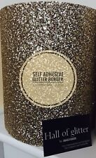 Chunky 3d Glitter Wall Fabric/wallpaper SELF ADHESIVE BORDER, SOLD BY THE METRE