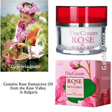 Anti Aging Day Face Cream Natural Bulgarian Rose Water Rose Damascena Oil 50ml