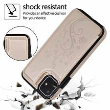 Fits iPhone 11 Pro Max XR 8 7 Plus Luxury Magnetic Leather Wallet Case Cover