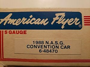 American Flyer 1988 NASG Convention Car, North American Boxcar, NIB AMF 48470