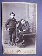 Vintage Cabinet Card Photo Boys named Earl & Will Turner Shelburne Falls, MA.