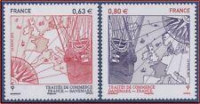 2013 FRANCE N°4817/818** France - Danemark, VAISSEAU de COMMERCE BOUSSOLE ...MNH