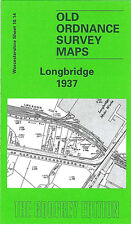 OLD ORDNANCE SURVEY MAP BIRMINGHAM LONGBRIDGE 1937