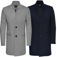 Only & Sons New Mens Max Wool Trench Coat Long Business Winter Overcoat