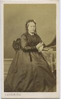 Eug. Ausselin Mantis Retrato Un Mujer CDV Vintage Albúmina Aprox 1860