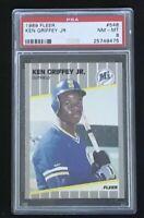 1989 FLEER #548 KEN GRIFFEY Jr ROOKIE CARD RC Seattle Mariners PSA 8 NM-MT HOF