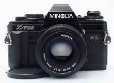 MINOLTA X-700 35mm FILM CAMERA BODY WITH 50mm F/1.7LENS