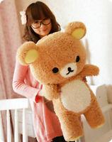 2019 Stuffed Kawaii San-x Rilakkuma Relax Bear Soft Pillow Plush Toys Doll 55cm