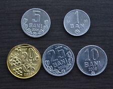 Moldawien Moldova MÜNZE 5PCS:  1 5 10 25 50 BANI UNC COIN CURRENCY